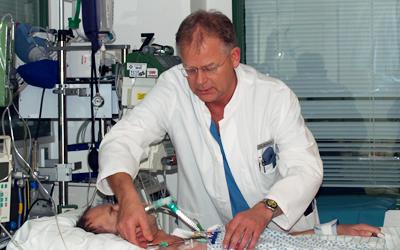 Medizinische Versorgung eines Patienten